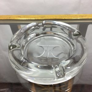 Hilton Ash Tray Clear Glass With H